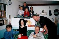 Jan Ruml s užší rodinou (ženou, dvěma syny, oběma rodiči a starším nevlastním bratrem)