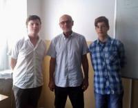 Jan Ruml se studenty z projektu Příběhy našich sousedů