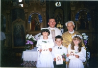 The first Confession and Holy Communion ceremony in Dobryany in 1993 year