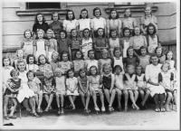 1944 - girls from the Radlice school