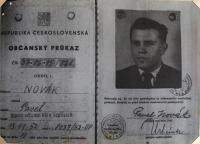 Fake identity card issued by CIC for espionage activities on the territory of Czechoslovakia