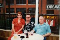 With his son Zdenek and his wife Miroslava in Dallas (2005)