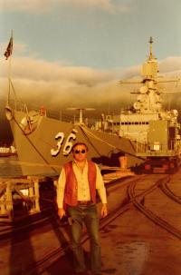 Tour of U.S. aircraft carrier in the San Francisco Bay. The state of California, San Francisco 1984.