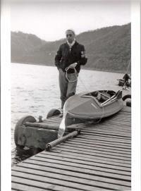 Jenő Ivánfi at Rursee, 1959
