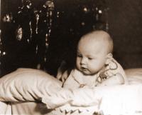 Kamil Černý jako miminko