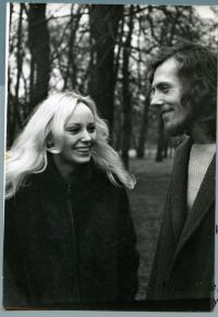 Kamil Černý s manželkou (1974)