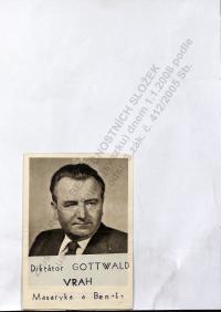 """Upravená pohlednice skupinou """"Evžen""""."""
