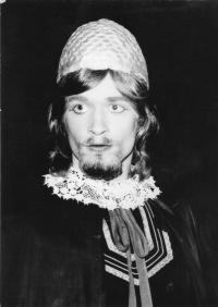 L.Dobner jako Sigibert v Tylovych Krvavych krtinach 1973