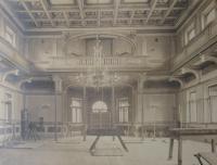 Sokolovna  - interiér z roku 1908
