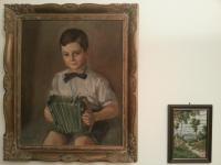 Pan Josef Drašnar vyobrazen jako malý chlapec