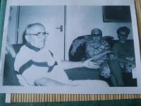Setkání Anežky Drašnarové s Josefem Hasilem v roce 1992