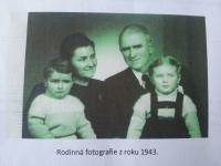 Rodina Drašnarova v roce 1943