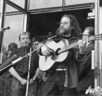 Vystoupení na demonstraci na Letné v roce 1989
