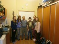 Miloš Kocman with students