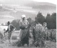 1937 Miloslav Stingl s prarodiči v Záluží