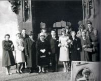 Svatba M. Stingla a Dagmar Šlampové, 1963