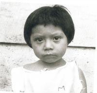 Indiánská yucatecká holčička
