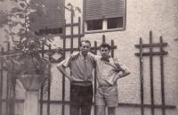 František Černý (vpravo) s Karlem Eichholzerem 50. roky, Graz