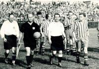 Match of deaf footbal players in Prague (Czechoslovakia x Yugoslavia 2:1)