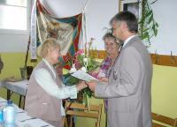 Gratulace od sokolů ke stým narozeninám Ludmily Chytilové