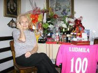 Ludmila Chytilová při svých stých narozeninách
