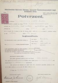 WW1 soldier certificate