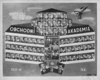 Maturitní tablo Obchodní akademie 1941