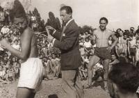 Hagibor 1941-42, Harry Borgini, vpravo Fredy Hirsch