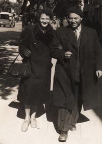 Dita a Ota Krausovi, Tel Aviv 1955