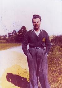 Ota Kraus v přípravném kurzu hachšara, 1941
