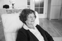 Dita Krausová ve svém pražském bytě, 2012