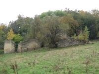Ruiny největšího hospodářství rodiny Koblitz, které zůstaly jediným pozůstatkem domů v zaniklé obci Hřibová