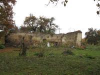 Ruiny hospodářství v zaniklé obci Zastávka