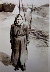 Babička Gerta Bittnerová v Hřibové