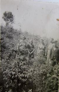Práce v lese u Hřibové v roce 1947 po odsunu Němců