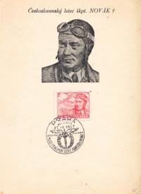 Známka s kpt. Novákem
