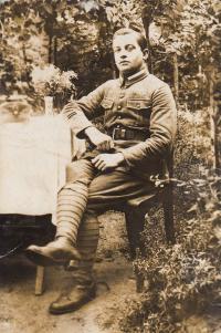 Otec v Itálii, Padula 1918