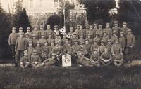 Otec Josef Piskáček v Československých legiích v Itálii v roce 1918, 28. domobranecký prapor, 3. rota, 4. četa