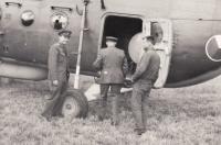 Průzkum na západní hranici ČSSR, přílet na letiště Plzeň-Bory, 1965
