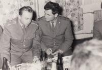 With Soviet soldiers, October 1969