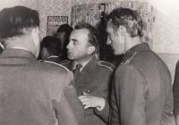 With Soviet soldiers, 1969