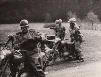 Motokurz u štábu 1. armády