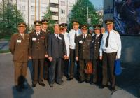 With general Procházka (in the middle in shirt), Pilsen 1995