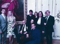 Pavel Konzal s dětmi, jejich manžely a vnuky