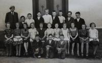5. ročník Obecné školy v Úboči, 1938