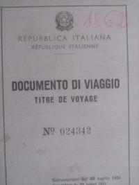 Italian passport that he used to go to Canada