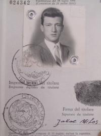 Passport photo with Miloš personal data