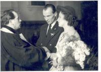 Svatební foto 1950