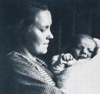Jiří Anderle with his mum