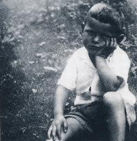 Jiří Anderle as a boy lost in thought